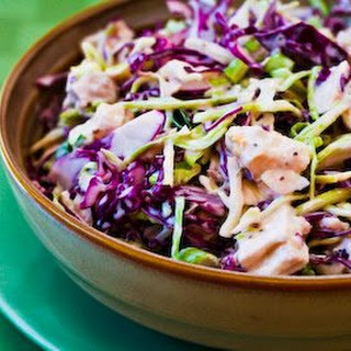 Recipe for Chicken and Shredded Cabbage Salad with Mustard and Celery Seed.