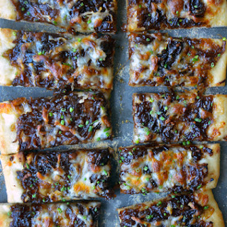 Caramelized Balsamic Onion and Gruyere Pizza