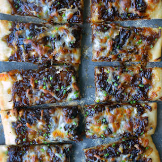 Caramelized Balsamic Onion and Gruyere Pizza.