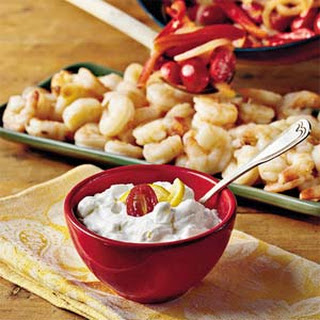 Shrimp With Yogurt-Cucumber Sauce