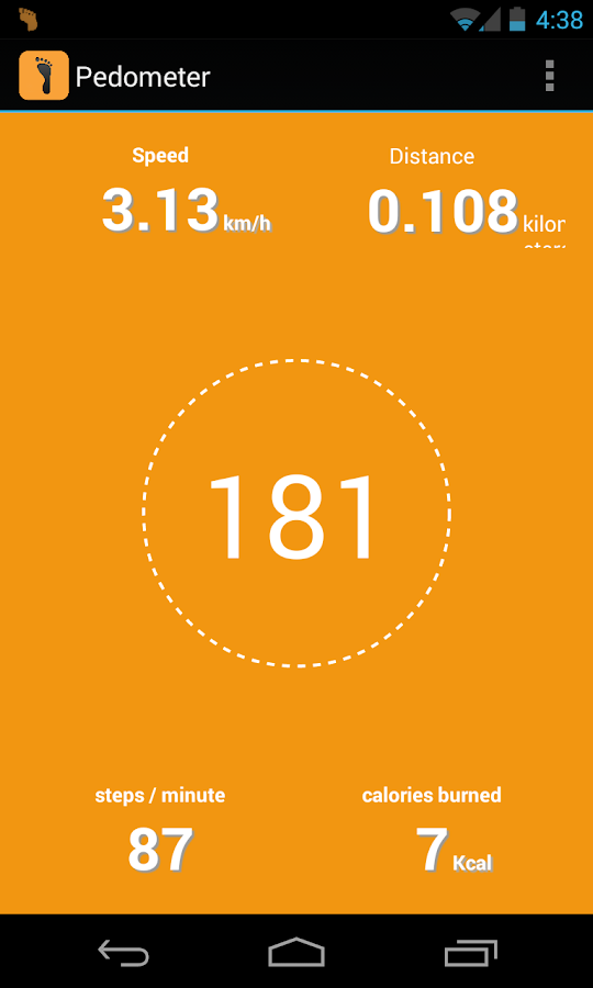 Pedometer + Calories Counter - screenshot