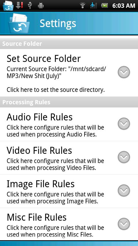 File & Media Organizer - screenshot