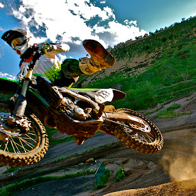 Close Up by Zachary Zygowicz - Sports & Fitness Motorsports ( motocross, dirtbike, whip, closeup, one footer )