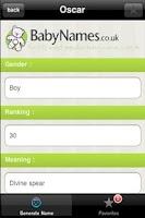 Screenshot of Baby Name Generator