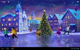 Screenshot of Christmas Rink Live Wallpaper