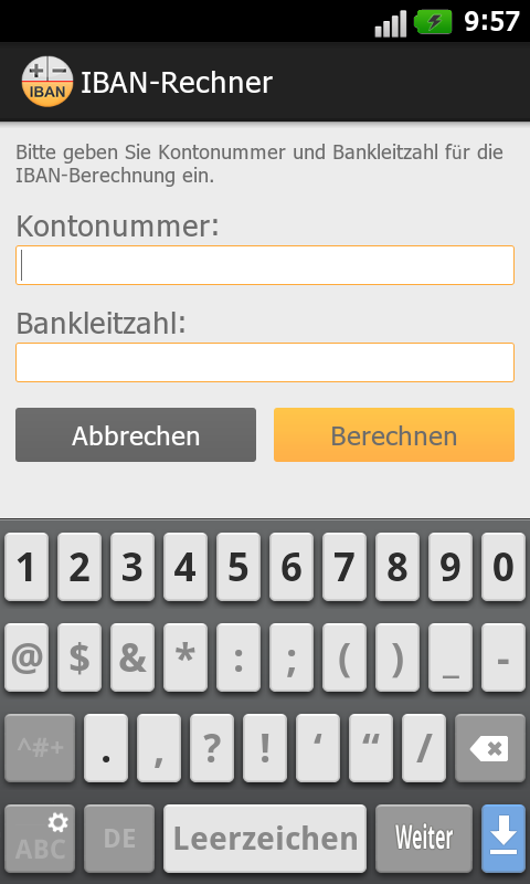 IBAN-Rechner - Android Apps on Google Play