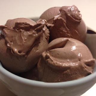 (Basic but Fantastic) Dark Chocolate Ice Cream.
