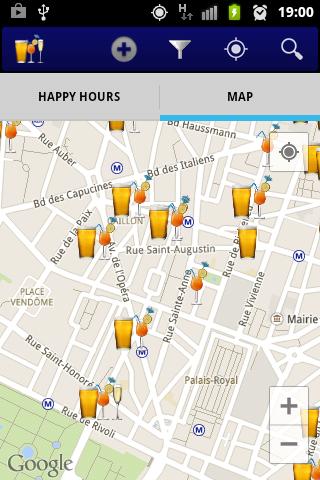 Screenshot 1 Happy Hours Paris
