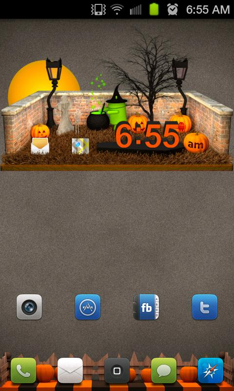 Halloween Clock - screenshot