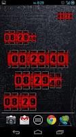 Screenshot of 3D Rolling Clock RED