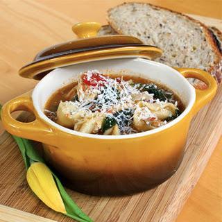 Garlicky Tortellini Soup