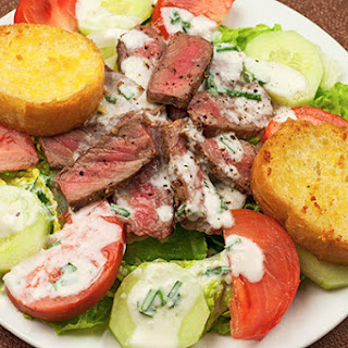 Grilled Steak Salad with Horseradish Ranch Dressing.