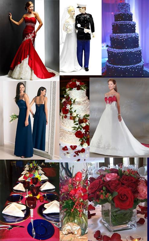 Weddingzilla Military Wedding Theme Red White Blue