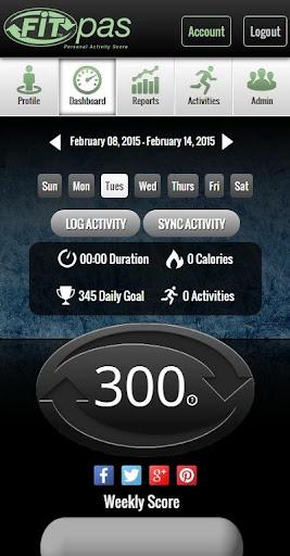 FITpas Personal Activity Score
