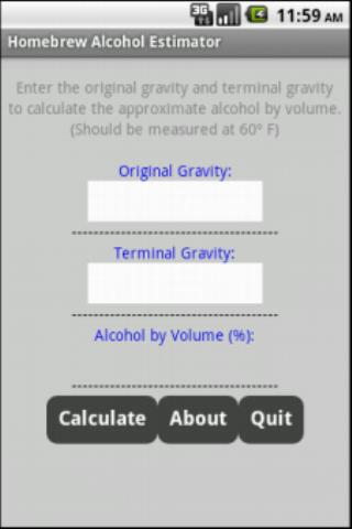 Homebrew Alcohol Estimator