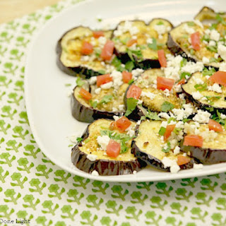 Roasted Eggplant Salad with Feta and Tarragon.