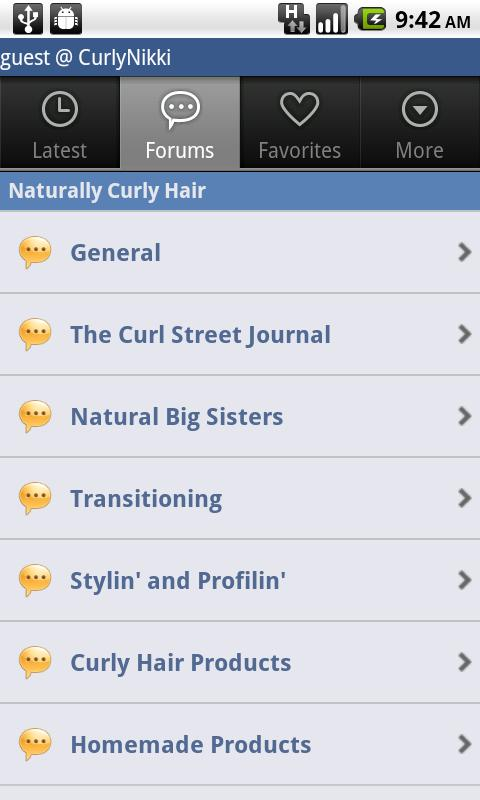 CurlyNikki.com's Forum- screenshot