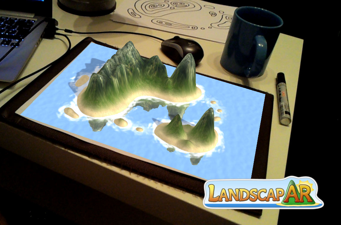 LandscapAR augmented reality- screenshot