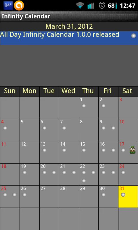 Infinity Calendar - screenshot