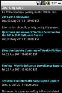 CDC Flu Informant - screenshot thumbnail