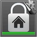 Home security alarm icon