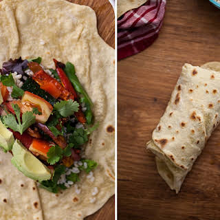 Spiced Zucchini + Rice Burrito with Homemade Einkorn Flour Tortillas (+giveaway).