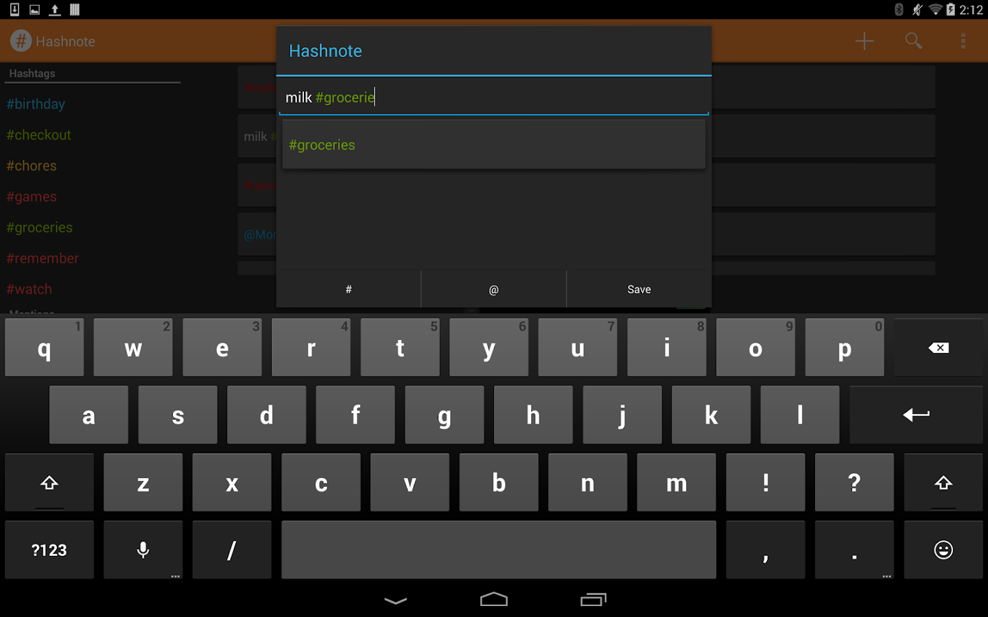 Hashnote- screenshot