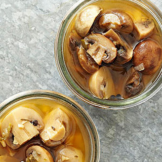 White Balsamic-Rosemary Pickled Mushrooms
