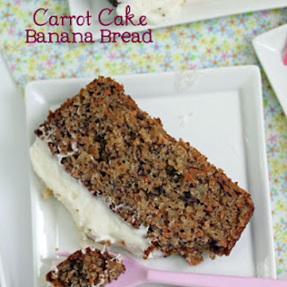 Carrot Cake Banana Bread with Cream Cheese Frosting.