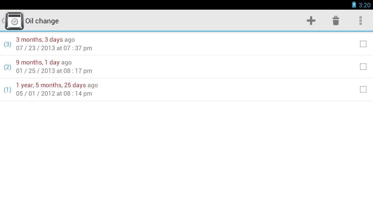 TimeJot - screenshot
