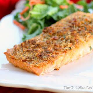 Baked Dijon Salmon.