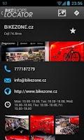 Screenshot of Bike Shops Locator
