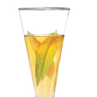 Sparkling Pear Cocktail.