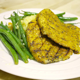 Curry Spiced Pork, Couscous, and Green Beans