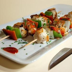 Shrimp and Monkfish Kebabs