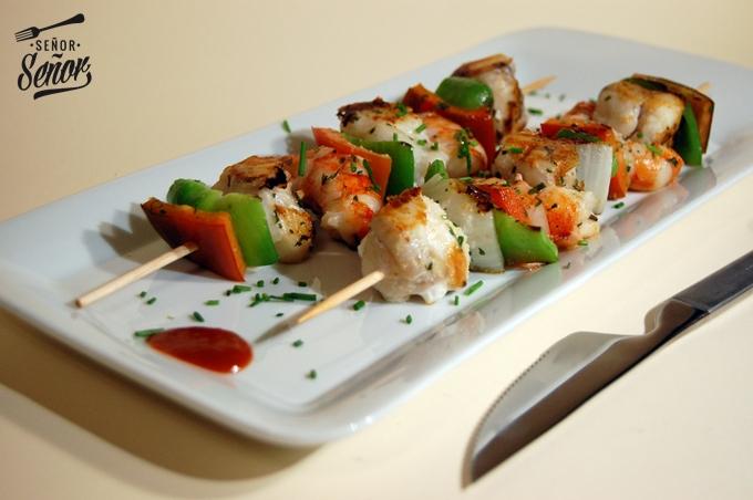 Shrimp and Monkfish Kebabs Recipe