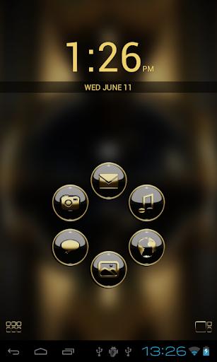 玩免費個人化APP|下載Smart Launcher GSLTHEME  ゴールド app不用錢|硬是要APP