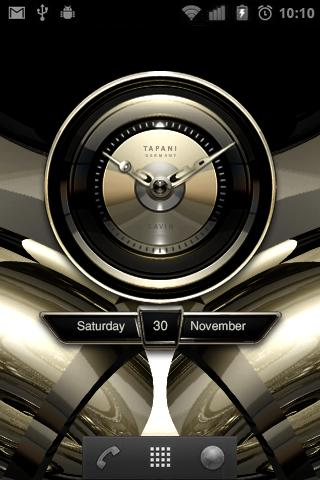 Savin Designer Clock Widget- screenshot