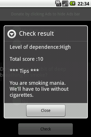 CigarettesDependenceTest - screenshot
