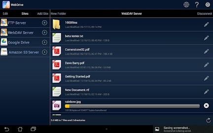 WebDrive, File Transfer Client Screenshot 7