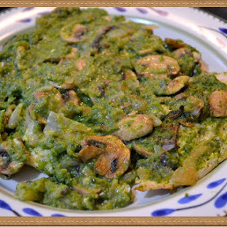 Chicken with Mushrooms and Poblano Sauce.