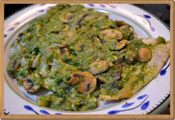 Chicken with Mushrooms and Poblano Sauce Recipe