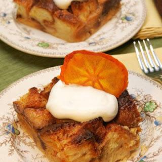 Persimmon White Chocolate Bread Pudding.