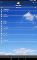 Screenshot of the Weather