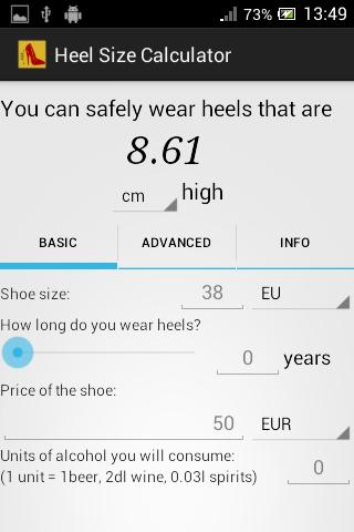 Heel Size Calculator