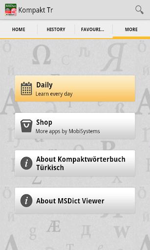 Dictionary TurkishGerman TR