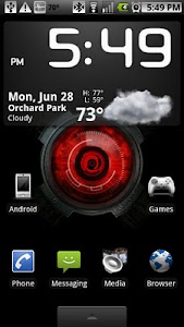 Droid X Eye Live Wallpaper screenshot 1