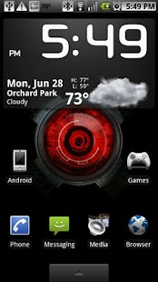 Droid X Eye Live Wallpaper - screenshot thumbnail