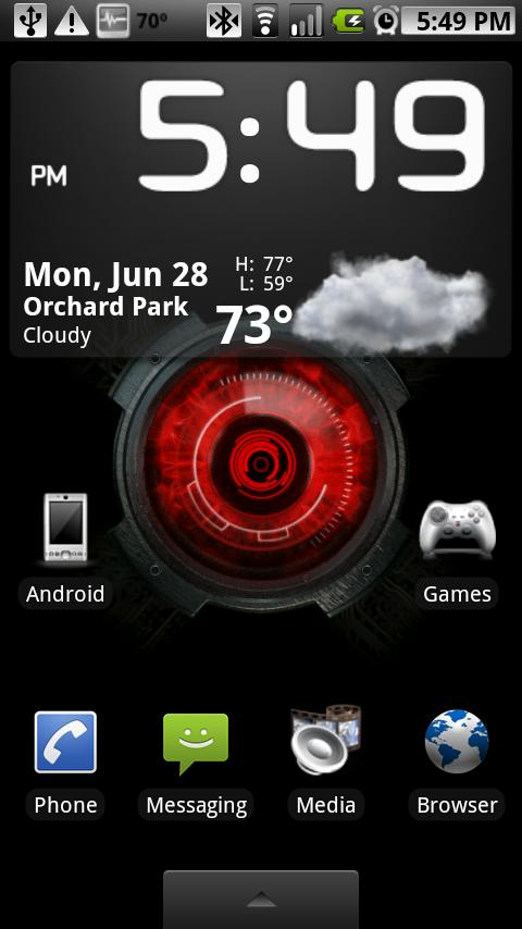 Droid X Eye Live Wallpaper - screenshot