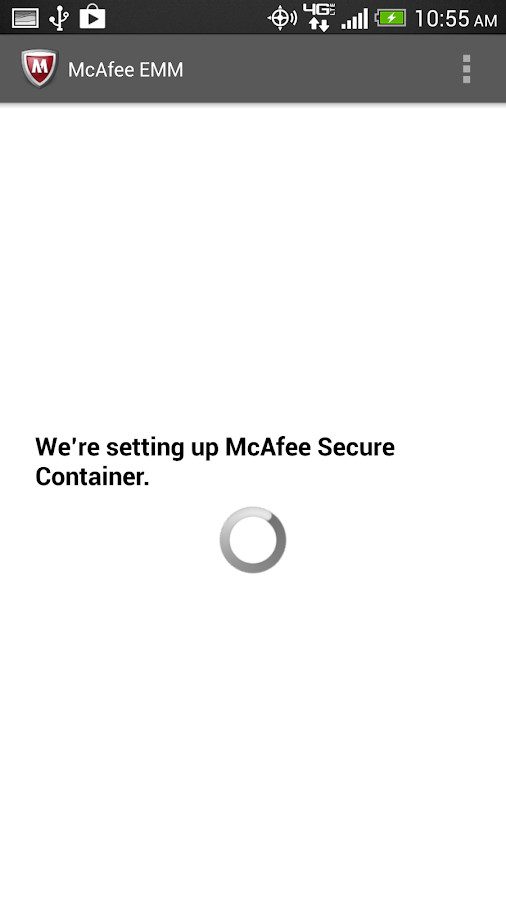 McAfee EMM - screenshot